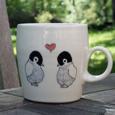 Abby Berkson Penguins in Love Mug on sneakpeeq
