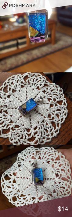 Women's pendant Beautiful multi colored glass pendant😁 Jewelry Necklaces