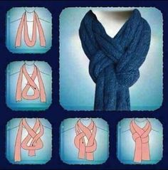 How to tie a scarf around your neck (step by step) - A great list of DIY style, clothing and life hacks every girl should know! Everything from organization to bra straps! Tips for teens and women. Listotic.com