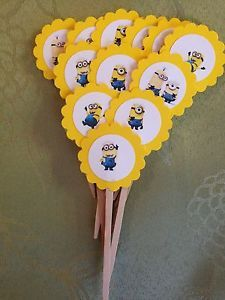 Despicable Me Minion Cupcake or Food Picks | eBay