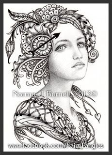 Fairy Tangles: Gwendolyn  --by Norma J Burnell, CZT