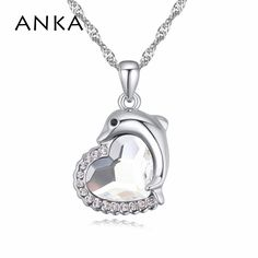 2017 New Sales Women Hot Crystals from Austrian With Dolphin Fashion Crystal Pendant Necklace Jewelry For Women #113969