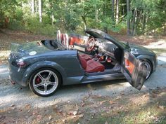 VW 2001 AUDI TT QUATTRO baseball glove stitching brown silver grey black interior amber red