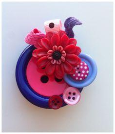 Handmade Buttons Brooch