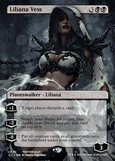 MTG Liliana Vess Planeswalker.