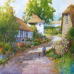 Essas belíssimas aquarelas são do artista  Ian Ramsay.