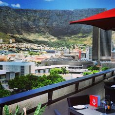 Table Mountain. Stunning view from the terrace at our #ParkInn #CapeTown including the famous Table Mountain. http://www.parkinn.com/hotel-capetown
