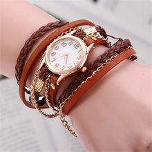 Vintage Weave Wrap Leather Bracelet Wrist Watch Do you want to be charming and punctual at the same time? This type of vintage weave wrap ar. Antique Bracelets, Woven Bracelets, Fashion Bracelets, Best Watches For Men, Woven Wrap, Cheap Accessories, Fashion Sale, Fashion Trends, Vintage Watches