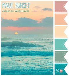 Maui Sunset Color Palette - Inspire Sweetness and tropical flair