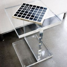 Gus* Modern | Acrylic I-Beam Table     http://www.gusmodern.com/products1/tables-accents/acrylic-ibeam/acrylic-ibeam.shtml#acrylic-ibeam