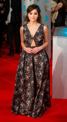 Jenna Coleman attends the EE British Academy Film Awards on February 8, 2015 in London, England. | http://aol.it/1FqL1Ta via @stylelist