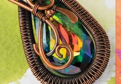 wire-weaving pendant by Sarah Thompson - from Fixing Wire Jewelry Mistakes: How to Bounce Back from Tool Marks, Hard or Broken Wires, and Go with the Flow - Jewelry Making Daily
