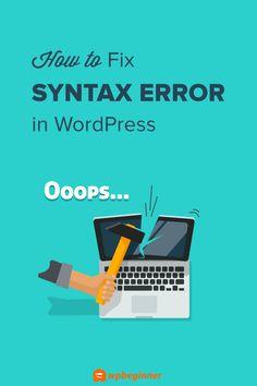 The Ultimate WordPress Toolkit Wordpress Admin, Wordpress Template, Start A Website, Error Code, Coding, Learning, Studying, Teaching, Programming