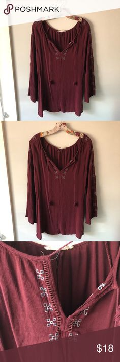Love stitch embroidered bohemian tunic Perfect condition 💕😊 Love Stitch Tops Tunics
