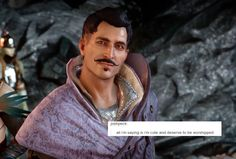dorian pavus is literally my favorite character in this game. Him and Cullen anyway. Dragon Age Inquisition, Dragon Age Games, Skyrim, Best Games, Just In Case, Fangirl, Character, Video Games, Random Thoughts