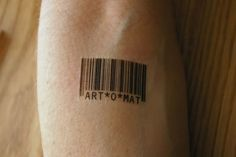 """Barcode Tattoos. I want this on my wrist except I want it to be """"LET*GO"""""""