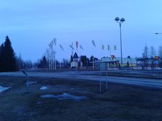 Some roundabout and Ass Market in Oulunsalo, Oulu.