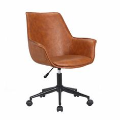 Wrought Studio Britt Task Chair Upholstery Color: B Home Office Chairs, Home Office Furniture, Office Seating, Chair Backs, Chair Upholstery, Modern Chairs, Modern Desk Chair, Desk Chairs, Bag Chairs