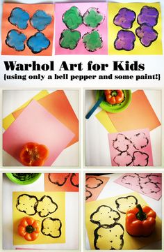 Warhol for kids- including a Warhol book list and fun easy art project idea!