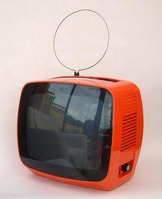 Space Age // Orange Plastic TV