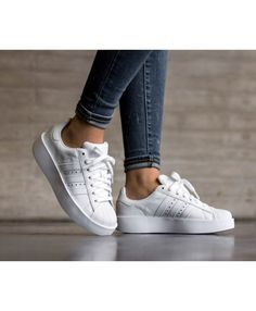Adidas Superstar Womens platform Trainers In White Rose Gold Adidas 1b2289c8a