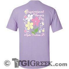 TGI Greek Tshirt - Alpha Omicron Pi - Inspirational Women's Day Shirt