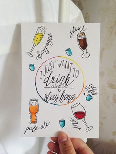 Lettering and alcohol