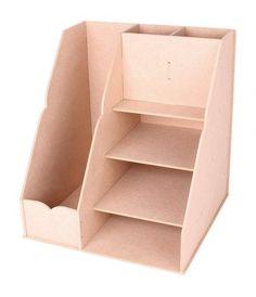 Diy Organisation Bureau, Room Organization, Cardboard Organizer, Diy Cardboard, Study Room Decor, Cute Room Decor, Diy Bathroom, Diy Home Crafts, Diy Desk