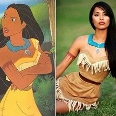 She's exists! Family Halloween Costumes, Cute Costumes, Disney Costumes, Halloween Cosplay, Halloween Costumes For Kids, Costumes For Women, Pocahontas Halloween Costume, Moana Costume Diy, Frozen Costume