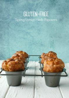Gluten-Free Spring Lemon-Herb Popovers | Boulder Locavore #glutenfree