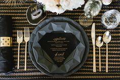 Kate Spade wedding decoration Black & gold weddings