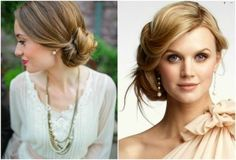 soft and sweet - wedding updo
