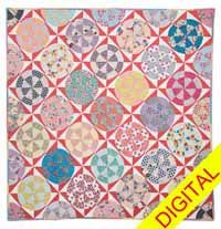 Rock N Roll Circus Quilt Digital Pattern from ShopFonsandPorter.com