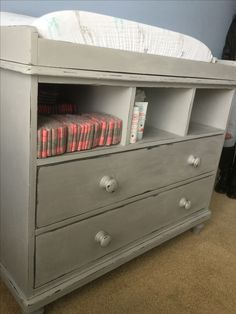 Changing table/chest refinished using Paris Grey #ASCP