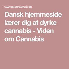 Dansk hjemmeside lærer dig at dyrke cannabis - Viden om Cannabis