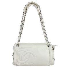 Chanel   Chanel White Leather Handbag