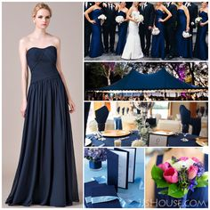 Ever thought of dark navy bridal party?