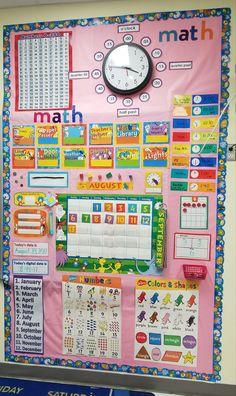 Dr Seuss Calendar Math First Grade Kindergarten First Kindergarten Classroom Decor, Classroom Organization, Kindergarten Calendar, Kindergarten Focus Walls, Preschool Calendar, Home Learning, Preschool Learning, Teaching, First Grade Calendar