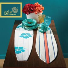 Surf's Up: Quilted Table Runners Catch a Wave
