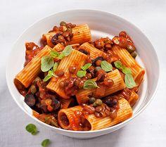 Rigatoni mit Linsen-Kapern-Soße   Blog Köstlich Vegetarisch