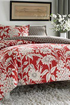 City Scene Cecilia Reversible Comforter Set - Red | HauteLook