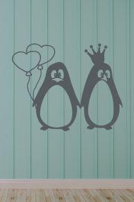#Wandtattoo #Pinguin #Liebespärchen