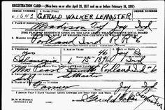 Military Monday : Gerald Walker LeMaster, World War II Draft Registration, 1942   TJL Genes : Preserving Our Family History #genealogy