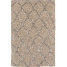 Naya Beige Geometric Wool Area Rug