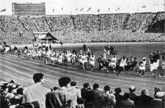 Athletes start the journey for the 1948 Olympic Marathon