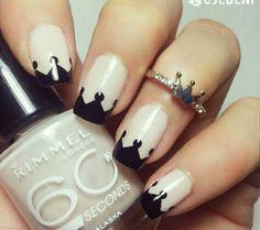 Great classy short nails art designs Source by womensfashioncorner Crown Nail Art, Crown Nails, Orange Nail Designs, Diy Nail Designs, Queen Nails, Nagel Hacks, Short Nails Art, Orange Nails, Nagel Gel
