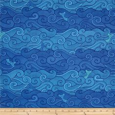 Designed by Patty Sloniger for Michael Miller, this cotton print fabric is perfect for quilting, craft projects, apparel and home decor accents. Colors include shades of blue.