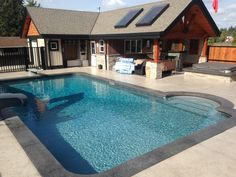 If an inground pool is built of concrete, it will certainly need pool coping ideas, which is a cap for the edge of the swimming pool. Small Backyard Pools, Backyard Pool Landscaping, Swimming Pools Backyard, Landscaping Tips, Pool Steps Inground, Pool Liners Inground, Pool Coping, Spas, Painted Pool Deck