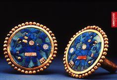 Impressive gold #earmuffs displayed at the Larco Herrera #Museum #Lima - #Peru