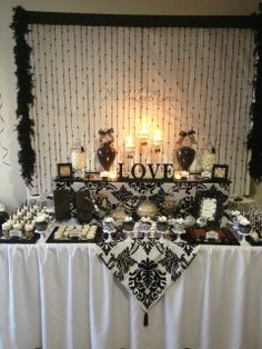 Black white party decorations Party decorations Pinterest